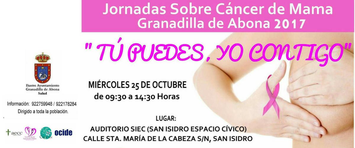 Jornadas sobre el cáncer de mama Granadilla de Abona 2017.