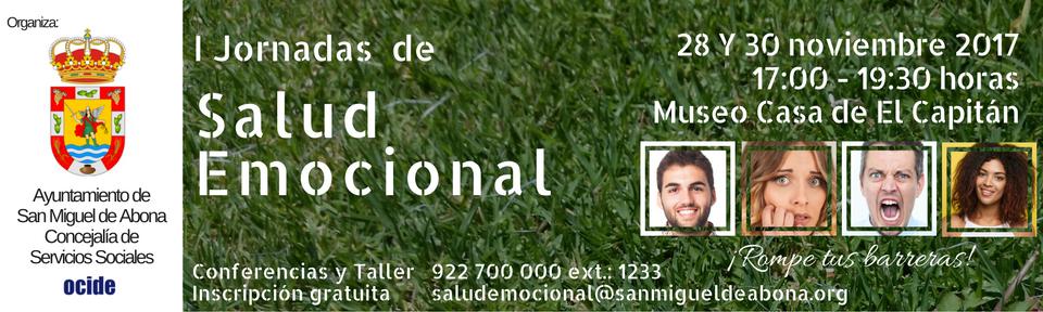 I Jornadas de Salud Emocional Organizadas por el Ayuntamiento de San Miguel de Abona.